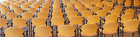 chairs in rows await sitters panorama