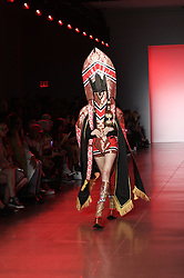 September 12, 2018 - New York, New York, U.S - September, 2018 - New York, New York  U.S. - A model on the runway at the NAMILIA S/S 2019 RTW show during New York Fashion Week 2018.  (Credit image (c) Theano Nikitas/ZUMA Wire/ZUMAPRESS.com (Credit Image: © Theano Nikitas/ZUMA Wire)