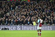 Manchester City fans look on. Premier league match, West Ham Utd v Manchester city at the London Stadium, Queen Elizabeth Olympic Park in London on Wednesday 1st February 2017.<br /> pic by John Patrick Fletcher, Andrew Orchard sports photography.