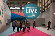 Visitors arriving at the Grand Designs Live at the NEC, in Birmingham, United Kingdom. Grand Designs Live is a home improvement exhibition spin off from the popular television series.