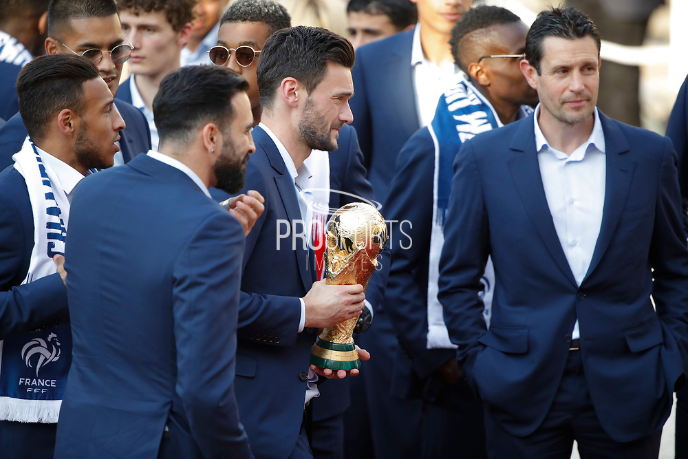 Hugo Lloris with trophy during the reception of the French team at Elysée after winning the 2018 FIFA World Cup Russia on July 16, 2018 in Paris, France - Photo Stephane Allaman / ProSportsImages / DPPI