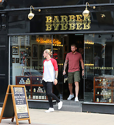 Liverpool goalkeeper Loris Karius pops into Barber Barber in Hale Village, Cheshire on Monday afternoon and comes out looking just the same as he went in after 30 minutes. Karius was put in a chair at the back and had a quick beard trim.
