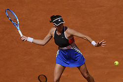 May 6, 2018 - Madrid, Spain - Garbine Muguruza against Shuai Peng during day two of the Mutua Madrid Open tennis tournament at the Caja Magica on May 6, 2018 in Madrid, Spain. (Credit Image: © Oscar Gonzalez/NurPhoto via ZUMA Press)