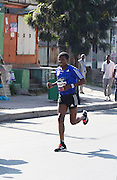 22/11/2015  repro fee.  A group of 25 from Gorta-Self Help Africa travelled to the capital of Ethiopia Addis Ababa for the great Ethiopian run which is Ethiopia's Haile Gebrselassie last race seen here running .  In temperatures in the mid 30 degree heat and 40,000 people and a city at 7,500 feet above sea level, it's no mean feat.   Photo:Andrew Downes <br /> <br /> <br /> Pics to be used with Gorta - Self Help Arica images only
