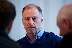 CARDIFF, WALES - Monday, November 5, 2018: Wales' Under-19 manager Paul Bodin during a press conference at Hensol Castle at the Vale Resort as he announces the squad for the forthcoming qualifying games for the UEFA Under-19 Champiomship. (Pic by Paul Greenwood/Propaganda)