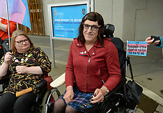 Trans rights protesters demonstrate at Scottish Parliament, Wednesday 12 June 2019