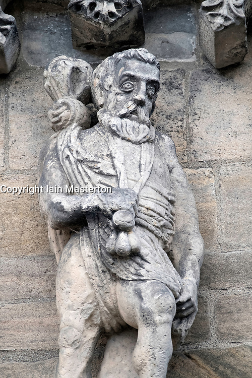 Statue on wall of Palace at  Stirling Castle in Stirling, Scotland, United Kingdom.