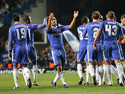 23.11.2010, Stamford Bridge, London, ENG, UEFA CL, Chelsea FC vs MSK Zilina, im Bild Chelsea's Florent Malouda  stirs up the crowd after scoring the winner, UEFA Champions League Group Stage, Chelsea v MSK Zalina, 23/11/2010. EXPA Pictures © 2010, PhotoCredit: EXPA/ IPS/ Mark Greenwood +++++ ATTENTION - OUT OF ENGLAND/UK and FRANCE/FR +++++