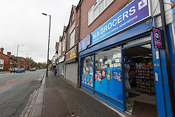 © Licensed to London News Pictures . FILE PICTURE DATED 13/10/2014 . Manchester , UK . GV of the Grocer's Shop on Hyde Road , Gorton , outside which Jordan was assaulted . A 17 year old who cannot be named for legal reasons has today (19th March) been sentenced to eight months after earlier pleading guilty to killing Jordan Brennan in Gorton , Manchester . 17 year old Jordan Brennan was found dead in his bed by his mother on the morning of Saturday 11th October following an assault outside a local grocery the night before .Photo credit : Joel Goodman/LNP
