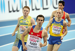 Mattias Claesson of Sweden and Yuriy Koldin of Russia at the 1st day of  European Athletics Indoor Championships Torino 2009 (6th - 8th March), at Oval Lingotto Stadium,  Torino, Italy, on March 6, 2009. (Photo by Vid Ponikvar / Sportida)