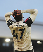 Football - 2020 / 2021 Emirates FA Cup - Round Four - Fulham vs Burnley - Craven Cottage<br /> <br /> Aboubakor Kamara of Fulham shows his despair after shooting wide<br /> <br /> COLORSPORT/ANDEW COWIE
