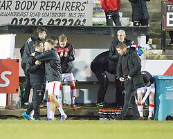 Airdrie's manager Mark Wilson at the end. Albion Rover 1 v 2 Airdrie, Scottish League 1 game played 5/11/2016 at Cliftonhill.