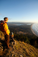 Hiking on Neahkahnie Mountain near Manzanita, Oregon.