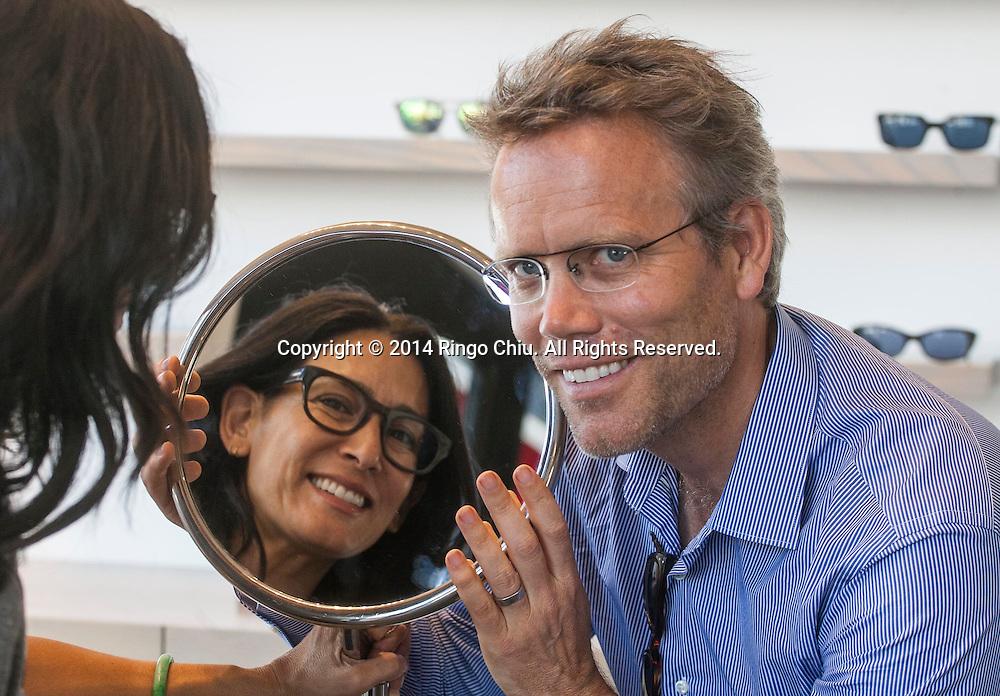 Jay Owens, founder of RetroSpecs and wife Marya Francis, creative director of RetroSpecs.<br /> (Photo by Ringo Chiu/PHOTOFORMULA.com)