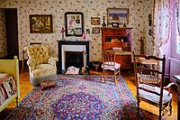 France, Eure (27), Giverny, maison du peintre Claude Monet, chambre à coucher // France, Eure (27), Giverny, house of the painter Claude Monet