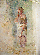 Roman fresco wall decoration frangmet from a Rome Villa, Rome. Museo Nazionale Romano ( National Roman Museum), Rome, Italy. .<br /> <br /> If you prefer to buy from our ALAMY PHOTO LIBRARY  Collection visit : https://www.alamy.com/portfolio/paul-williams-funkystock/national-roman-museum-rome-fresco.html<br /> <br /> Visit our ROMAN ART & HISTORIC SITES PHOTO COLLECTIONS for more photos to download or buy as wall art prints https://funkystock.photoshelter.com/gallery-collection/The-Romans-Art-Artefacts-Antiquities-Historic-Sites-Pictures-Images/C0000r2uLJJo9_s0