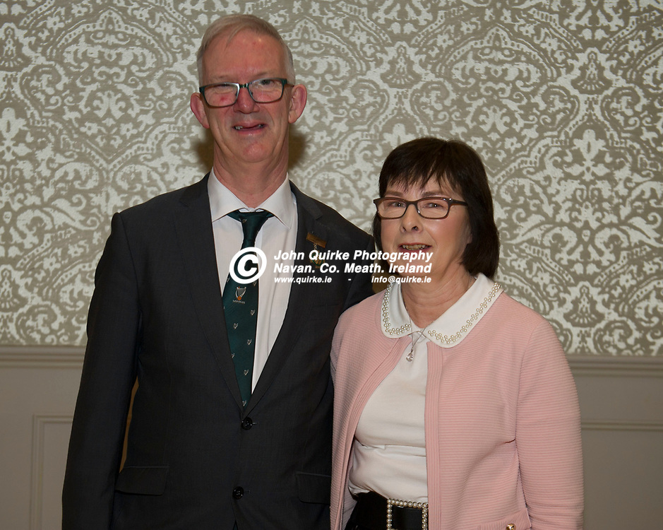 25-01-19. Leinster GAA Annual Convention 2018 at the Knightsbrook Hotel, Trim.<br /> Pat and Frances Teehan.<br /> Photo: John Quirke / www.quirke.ie<br /> ©John Quirke Photography, Unit 17, Blackcastle Shopping Cte. Navan. Co. Meath. 046-9079044 / 087-2579454.