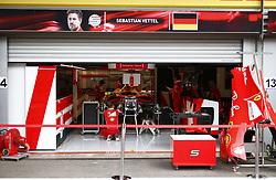 August 24, 2017 - Spa-Francorchamps, Belgium - Motorsports: FIA Formula One World Championship 2017, Grand Prix of Belgium, .garage of Scuderia Ferrari  (Credit Image: © Hoch Zwei via ZUMA Wire)