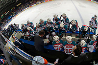 KELOWNA, CANADA - JANUARY 25: Kelowna Rockets' head coach Adam Foote calls a time out against the Victoria Royals  on January 25, 2019 at Prospera Place in Kelowna, British Columbia, Canada.  (Photo by Marissa Baecker/Shoot the Breeze)
