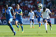 Rayhaan Tulloch of England (16) breaks away during the UEFA European Under 17 Championship 2018 match between England and Italy at the Banks's Stadium, Walsall, England on 7 May 2018. Picture by Mick Haynes.