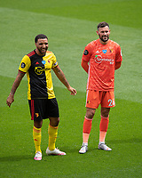 Football - 2019 / 2020 Premier League - Watford vs. Leicester City<br /> <br /> Watford's Troy Deeney with Ben Foster, at Vicarage Road.<br /> <br /> COLORSPORT/ASHLEY WESTERN