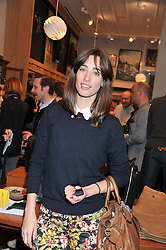 TV presenter LAURA JACKSON at the opening of the new Jack Spade store at 83 Brewer street, London on 29th March 2012.
