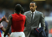 Photo: Rich Eaton.<br /> <br /> Chelsea v Arsenal. Carling Cup Final. 25/02/2007. Thierry Henry consoles his teammates after not playing in the final which Arsenal lost 2-1