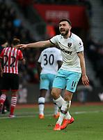 Football - 2016 / 2017 Premier League - Southampton vs. West Ham United<br /> <br /> Robert Snodgrass of West Ham United disputes a decision at St Mary's Stadium Southampton England<br /> <br /> COLORSPORT/SHAUN BOGGUST