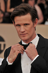 Matt Smith arrives at the 24th annual Screen Actors Guild Awards at The Shrine Exposition Center on January 21, 2018 in Los Angeles, California. <br />