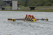 Munich, GERMANY, 2006, FISA, Rowing, World Cup, ROM W8+ move away from the start pontoon,  on the Olympic Regatta Course, Munich, Thurs. 25.05.2006. © Peter Spurrier/Intersport-images.com,  / Mobile +44 [0] 7973 819 551 / email images@intersport-images.com..[Mandatory Credit, Peter Spurier/ Intersport Images] Rowing Course, Olympic Regatta Rowing Course, Munich, GERMANY