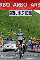 05.07.2010, AUT, 62. Österreich Rundfahrt, 2. Etappe, Landeck-Kitzbüheler Horn, im Bild Riccardo Ricco (ITA, Ceramica Flaminia), EXPA Pictures © 2010, PhotoCredit: EXPA/ S. Zangrando / SPORTIDA PHOTO AGENCY