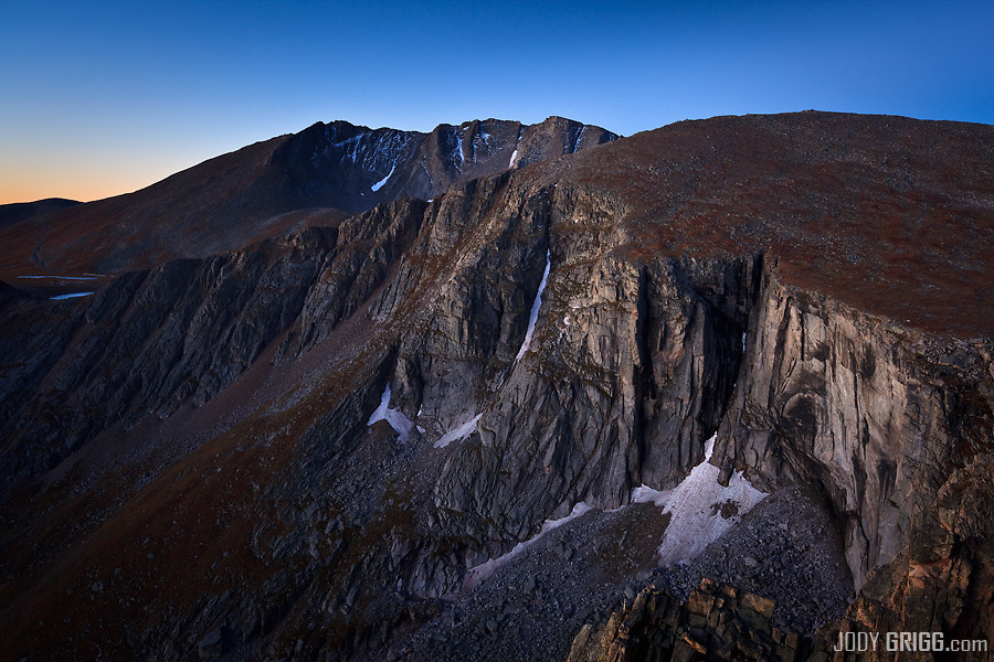 Mount Evans, a fourteener in the Front Range of Colorado.