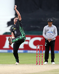 Robbie Frylinck of Hollywoodbets Dolphins during the T20 Challenge cricket match between the Dolphins and the Cobras at the Kingsmead stadium in Durban, KwaZulu Natal, South Africa on the 4th December 2016<br /> <br /> Photo by:   Steve Haag / Real Time Images