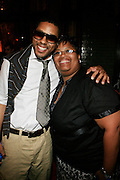 """BJ Coleman and Patti Webster at the Alica Keys """" As I am"""" celebration wrap party at Park on June 18, 2008"""