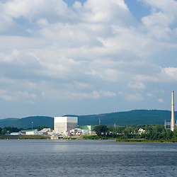 The Vermont Yankee Nuclear Power Plant across the river in Vernon, Vermont, as seen from across the Connecticut River in Hinsdale, New Hampshire.
