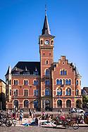 the old harbor masters office at the Rheinau harbour, Cologne, Germany.<br /> <br /> das alte Hafenamt im Rheinauhafen, Koeln, Deutschland.