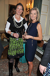 Left to right, STEPHANIE FLANDERS and MARY NIGHTINGALE at a reception for Women in Media hosted by the Prime Minister David Cameron at 10 Downing Street, London on16th May 2013.