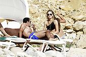 Luis Figo and Helen Svedin Bikini in Ibiza