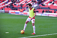 John Marquis of Doncaster Rovers (9) warming up during the EFL Sky Bet League 1 match between Doncaster Rovers and AFC Wimbledon at the Keepmoat Stadium, Doncaster, England on 17 November 2018.
