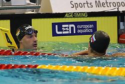 20.08.2014, Europa Sportpark, Berlin, GER, LEN, Schwimm EM 2014, 50m, Rücken, Männer, im Bild Nicolas Graesser (Deutschland) // during the semifinal of men's 50m Backstroke of the LEN 2014 European Swimming Championships at the Europa Sportpark in Berlin, Germany on 2014/08/20. EXPA Pictures © 2014, PhotoCredit: EXPA/ Eibner-Pressefoto/ Lau<br /> <br /> *****ATTENTION - OUT of GER*****