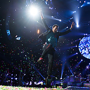 WASHINGTON, DC - July 9th, 2012 - Chris Martin of Coldplay performs at the Verizon Center in Washington, D.C. The band's 2011 album, Mylo Xyloto, reached number one in thirty countries. (Photo by Kyle Gustafson/For The Washington Post)