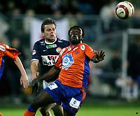 Fotball , 8. oktober 2006 , Adeccoligaen , 1. divisjon , Strømsgodset - Aalesund ,3-2  <br /> Kabba Samura , Aalesund mot Kristian Sørli , Strømsgodset