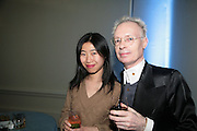 YUXI WANG AND ANTHONY FAWCETT, 'The Unknown Monet: Pastels and Drawings. Royal Academy. London. 13 March 2007.  -DO NOT ARCHIVE-© Copyright Photograph by Dafydd Jones. 248 Clapham Rd. London SW9 0PZ. Tel 0207 820 0771. www.dafjones.com.