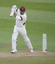 Somerset's Marcus Trescothick hits a four. - Mandatory byline: Alex James/JMP - 07966386802 - 09/09/2015 - FOOTBALL -  - The County Ground - Taunton  - Somerset v Hampshire - LV CC -