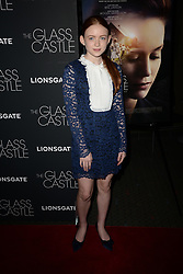 August 9, 2017 - New York, NY, USA - August 9, 2017  New York City..Sadie Sink attending 'The Glass Castle' film premiere on August 9, 2017 in New York City. (Credit Image: © Kristin Callahan/Ace Pictures via ZUMA Press)