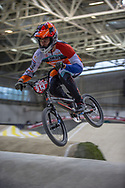 #313 (KIMMANN Niek) NED during practice at the 2019 UCI BMX Supercross World Cup in Manchester, Great Britain