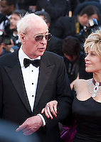 Actor Michael Caine and Actress Jane Fonda, at the gala screening for the film Youth at the 68th Cannes Film Festival, Wednesday May 20th 2015, Cannes, France.
