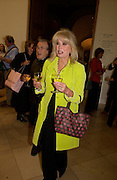 Joanna Lumley, Gerald Scarfe exhibition and book launch, National Portrait Gallery, 29 September 2003.© Copyright Photograph by Dafydd Jones 66 Stockwell Park Rd. London SW9 0DA Tel 020 7733 0108 www.dafjones.com