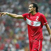 Turkey's Servet CETIN during their a international friendly soccer match Turkey betwen Estonia at TT Arena Istanbul August 10, 2011. Photo by TURKPIX