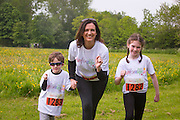 NO FEE PICTURES<br /> 28/5/16 RTE's Vivienne Traynor, ambassador for Organ Donor Awareness 2016 with her children Alison, age 9 and Oscar, age 4 at the Irish Kidney Association's Run For Life in support of Organ Donation at Corkagh Park in Dublin. Pictures:Arthur Carron